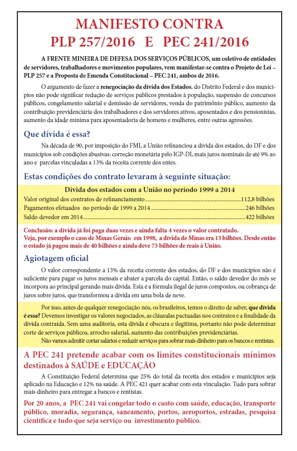 Manifesto PLP 257
