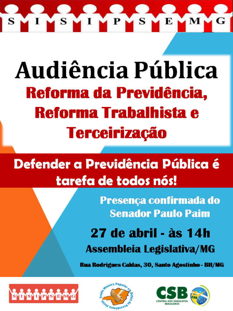 Cartaz Audiência Pública- 27 de abril