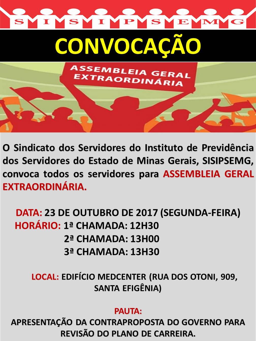 Convocação Assembleia Geral 23102017