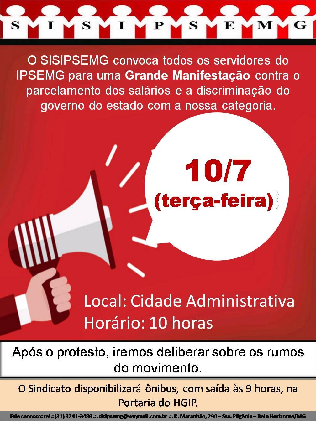 Manifestação Cidade Administrativa