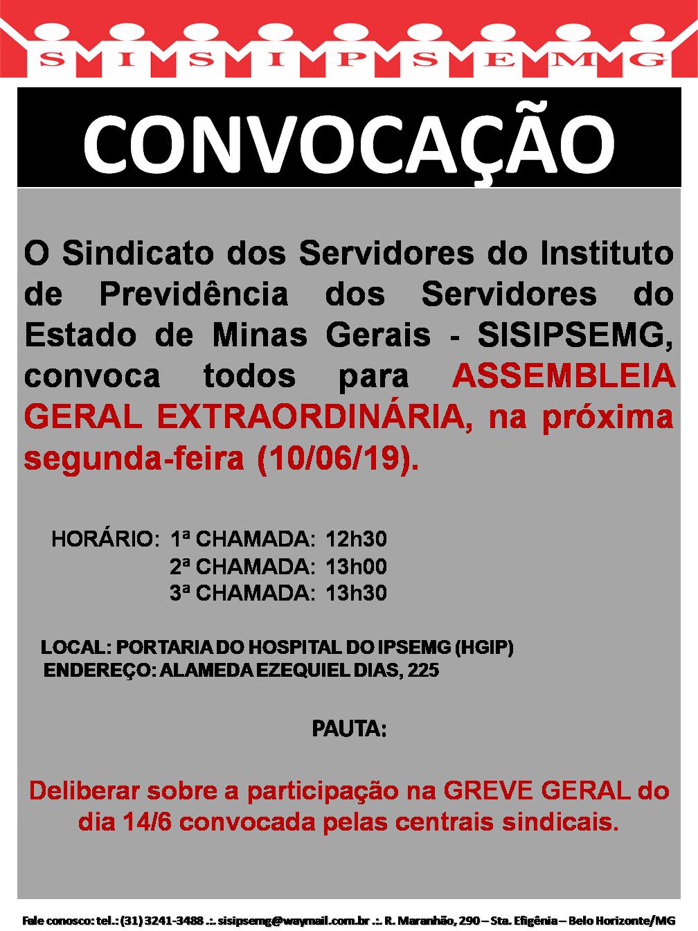 Convocação Assembleia Geral 05022019