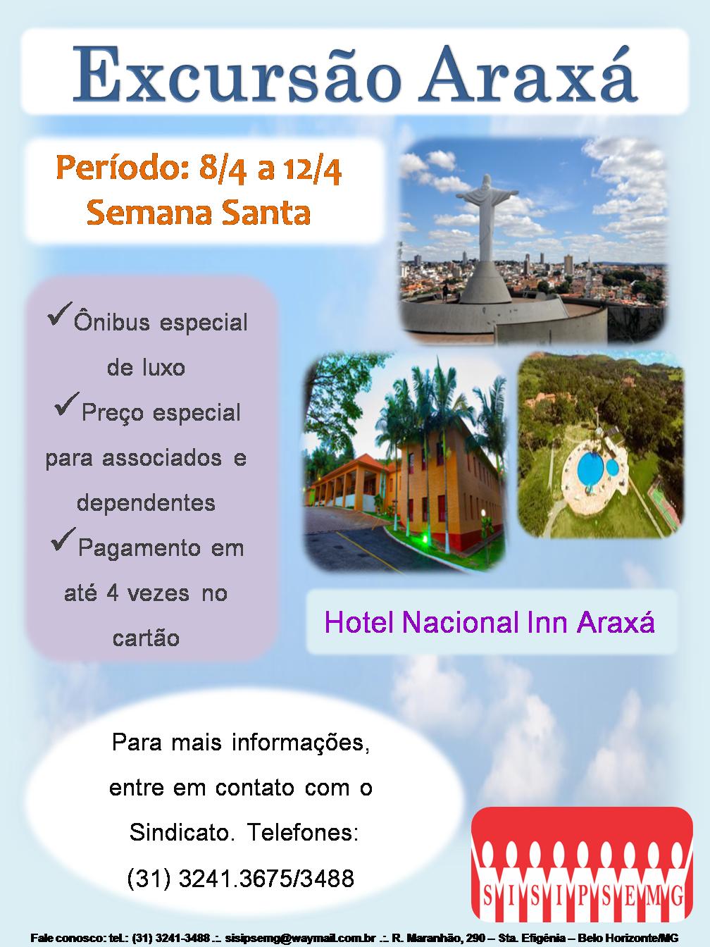 Excursão Araxá